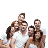 Group beautiful friends having fun Royalty Free Stock Images