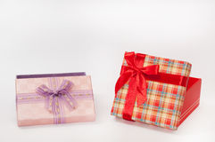 Group of beautiful gift box with bows Royalty Free Stock Image
