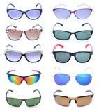 Group of beautiful sunglasses Royalty Free Stock Image
