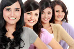 Group of beautiful women smiling Royalty Free Stock Photos