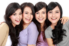 Group of beautiful women smiling Stock Photos
