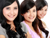 Group of beautiful women smiling Stock Image