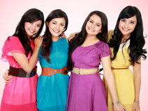 Group of beautiful women smiling together Royalty Free Stock Photo