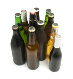 Group of Beer bottles isolated studio shot Royalty Free Stock Photo