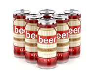 Group of beer cans Stock Image