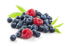 Group of berries  on white Stock Photography