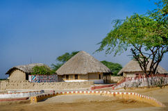 A group of Bhungas near Hodka village, Kutch, India. Stock Images