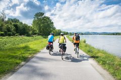 Group of bicyclists Stock Images