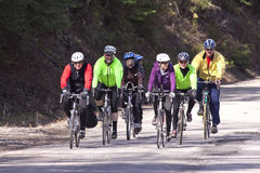 Group of bike riders. Stock Photo