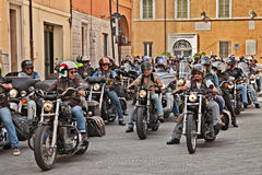 Group of bikers Stock Images