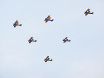 Group of Biplanes Royalty Free Stock Images