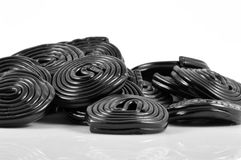 Group of black licorice Royalty Free Stock Photo