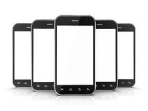 Group of black smartphones Stock Photography