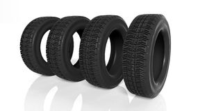 Group of black tires Royalty Free Stock Photo