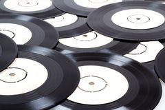 Group of black vinyl records Royalty Free Stock Photography