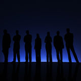 Group.Blue. Lizenzfreies Stockbild