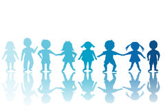 Group of blue children Stock Images