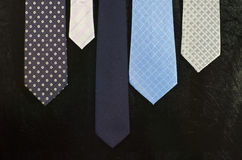 Group of blue necktie Royalty Free Stock Photography