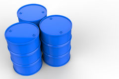 Group of blue oil barrels. 3d rendering group of blue oil barrels stock illustration
