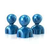 Group of blue people Royalty Free Stock Images