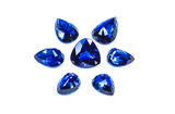 Group of blue sapphire. The group of the blue sapphires Stock Images