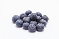 Group of blueberries. Selection of blueberries isolated on white stock images