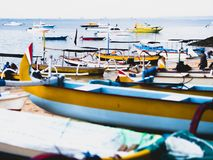 Group of Boats on Sea Royalty Free Stock Photo