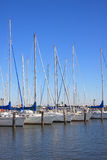 A group of boats on seaside Royalty Free Stock Photo