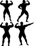 Group of bodybuilders. On white background, vector royalty free illustration
