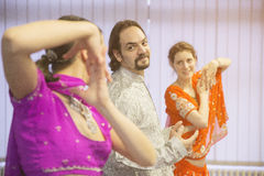 Group of bollywood dancers. Group of  bollywood dancers in dance studio Royalty Free Stock Photos