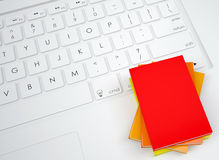 Group books on the keyboard Royalty Free Stock Photos
