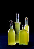 Group of bottles of Sorrento limoncello Royalty Free Stock Image