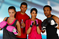 Group Boxing Stock Image
