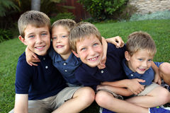 Group boys Royalty Free Stock Image