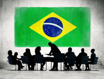 Group of Brazilian Business People Having Meeting Stock Photo