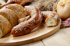Group of bread loaves Stock Photography