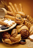 Group of breads Stock Images