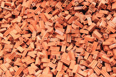 Group of bricks square construction materials Stock Photo