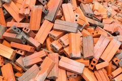 Group of bricks square construction materials Royalty Free Stock Photo