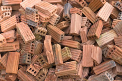 Group of bricks square construction materials Stock Images