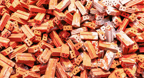 Group of bricks square construction materials Stock Photos
