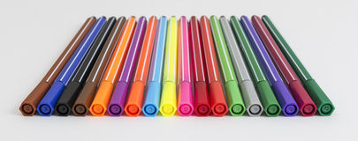 Group of bright markers Royalty Free Stock Photos