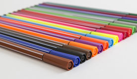 Group of bright markers Royalty Free Stock Photography