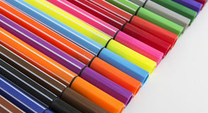 Group of bright markers Stock Photo