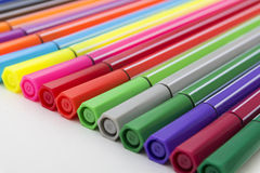 Group of bright markers Stock Photography