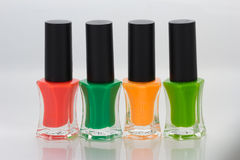 Group of bright nail polishes Royalty Free Stock Photos