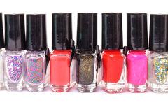 Group of bright nail polishes Royalty Free Stock Photography