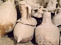 Group of broken ancient amphoras Stock Photography