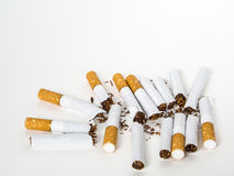 Group of broken cigarette Stock Photo