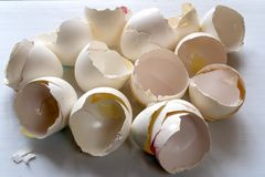 Group of broken egg shells.  royalty free stock photography